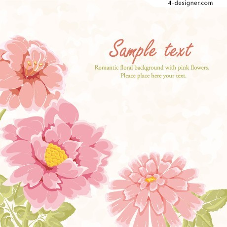 Exquisite flowers background vector material