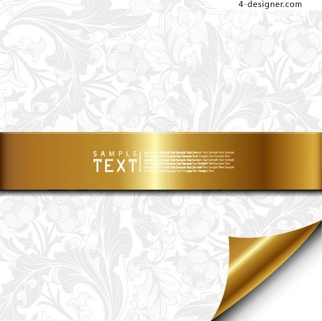 Exquisite pattern background vector material