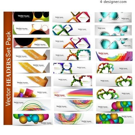 Fashion pattern banner material