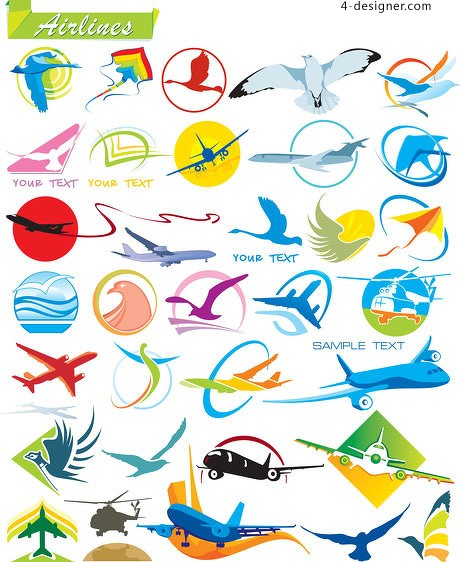 Flight related logo graphics vector material