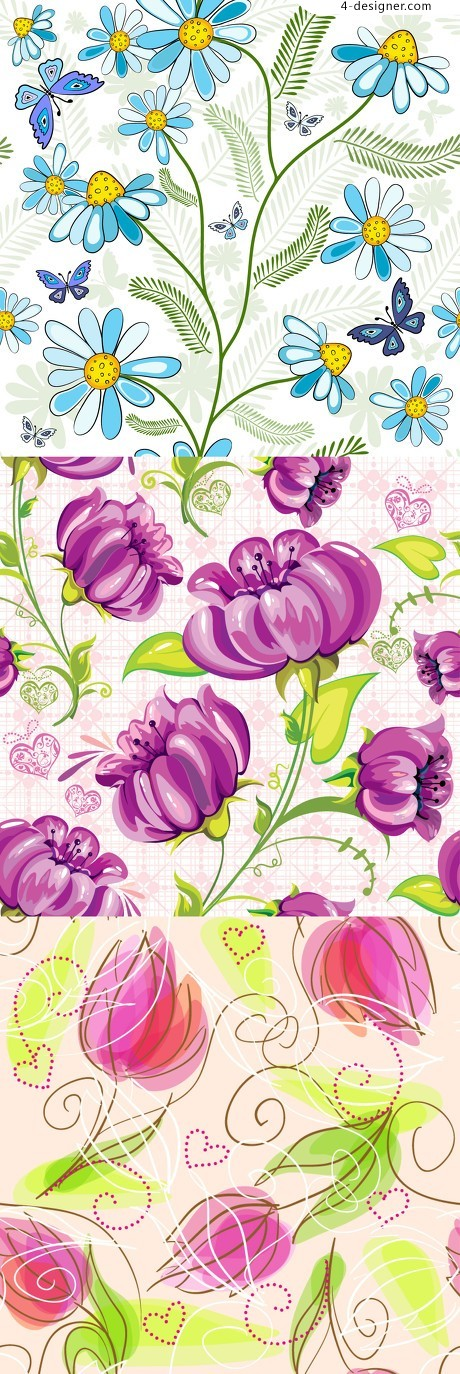 Flower pattern vector material