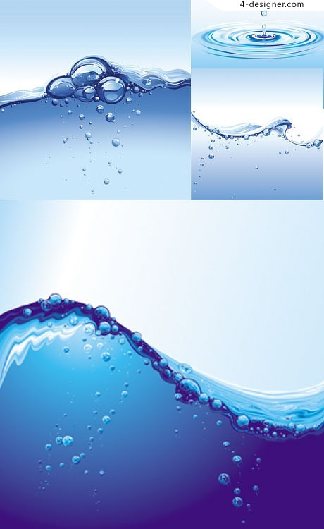 Fresh water theme vector material