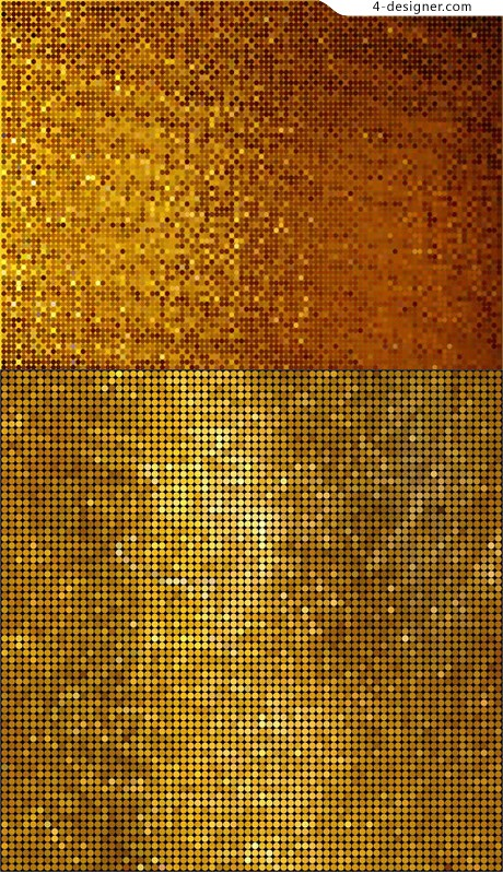 Gold mosaic background vector material