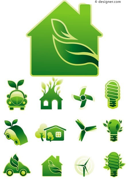 Green small icon vector material