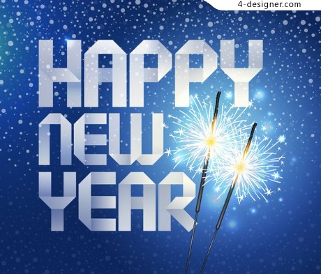 Happynewyear origami background vector material