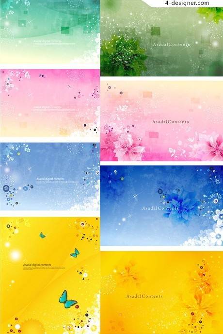 Hazy blur color background vector material