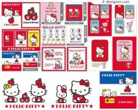 Hello_kitty cartoon vector material