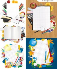 Learning stationery vector material