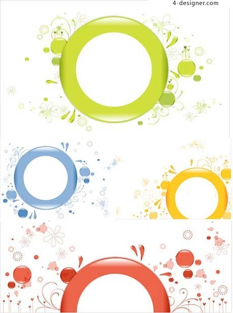 Lovely ornamentation circle template vector material