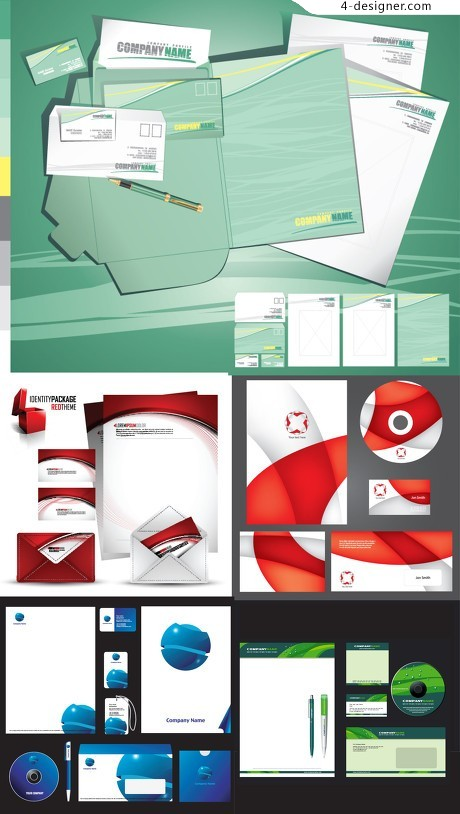 Office supplies VI template vector material