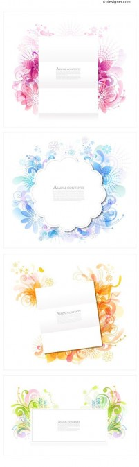 Pattern frame vector material