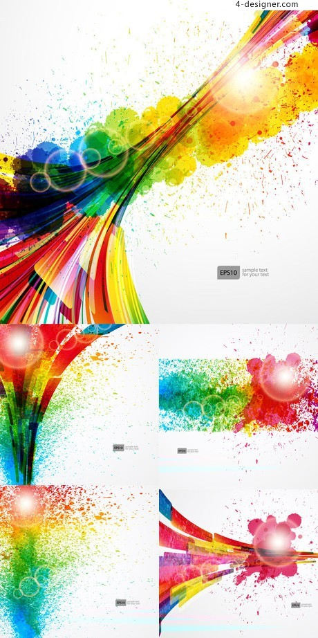 Printing color background vector