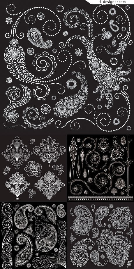 Refined and delicate pattern vector material