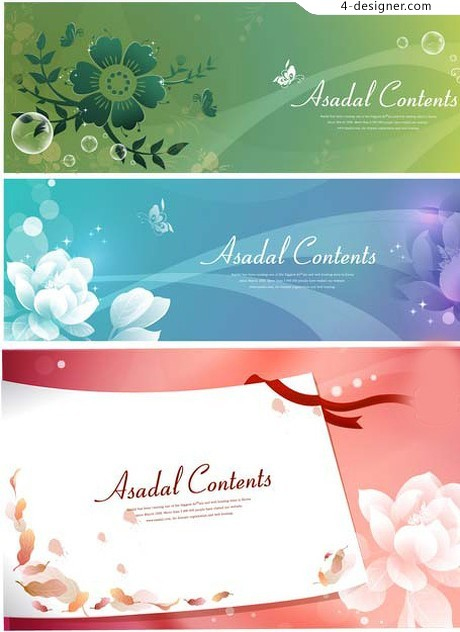 Romantic pattern background vector material