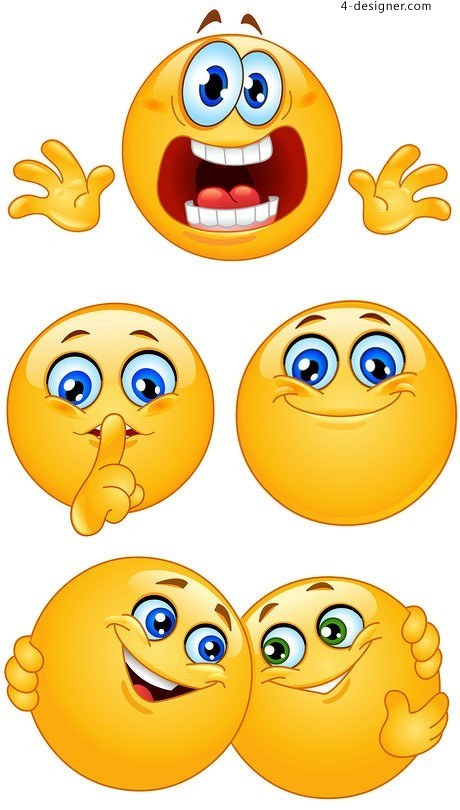 Round faced expression vector material