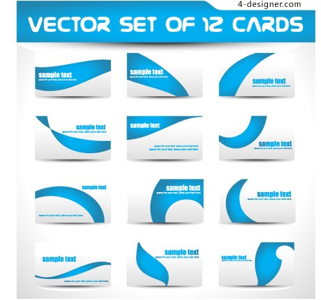Simple blue card vector material