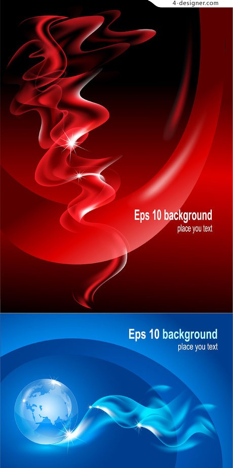 Soft curve background vector material