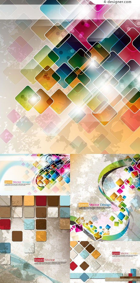 Symphony checkered background vector material 01