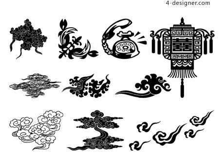 The traditional style vector material
