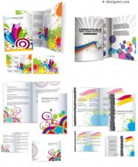 The trend of dynamic pattern brochure vector material