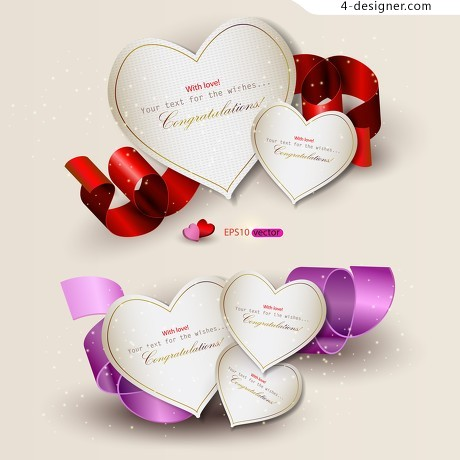 Valentine s Day cards vector writing aspirations