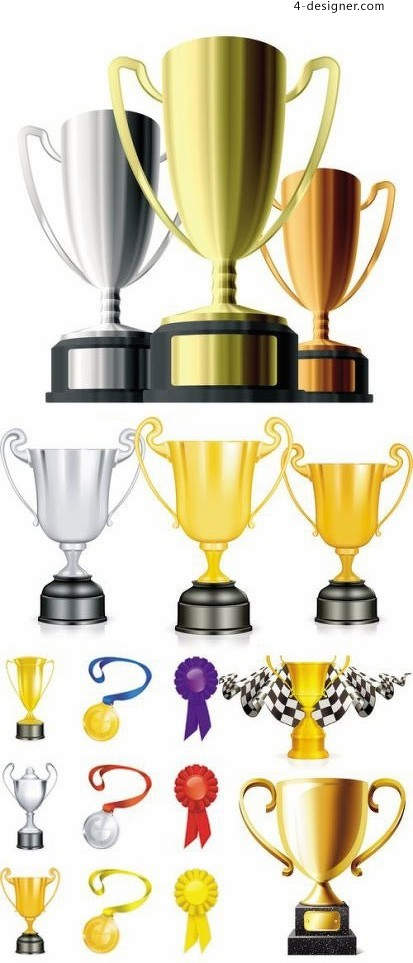 Variety trophy template vector material