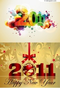 2011 glare dimensional characters vector material