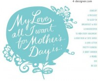 3 warm Mother s Day greeting card material