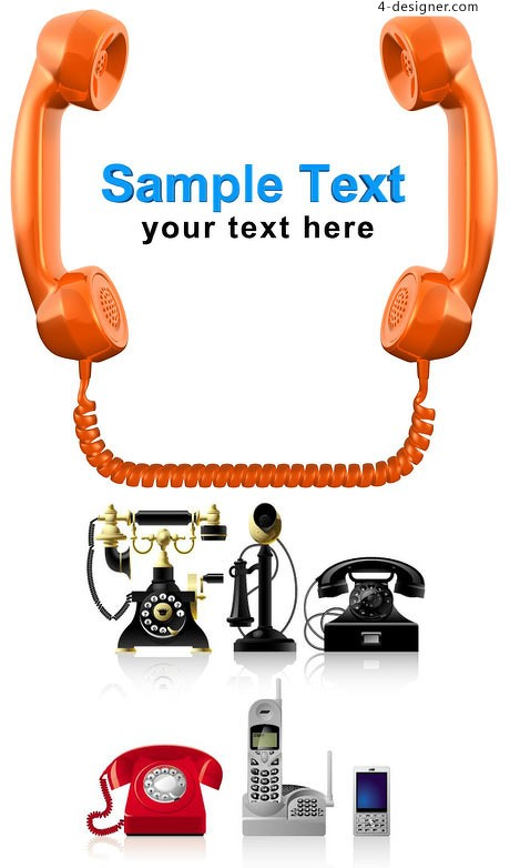 All kinds of phone vector material