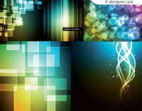 Brilliant light background vector material