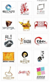 Chinese real estate LOGO elements 13 Vector material
