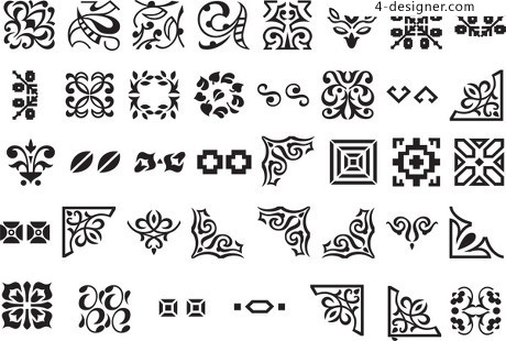 Chinese traditional pattern frame vector material