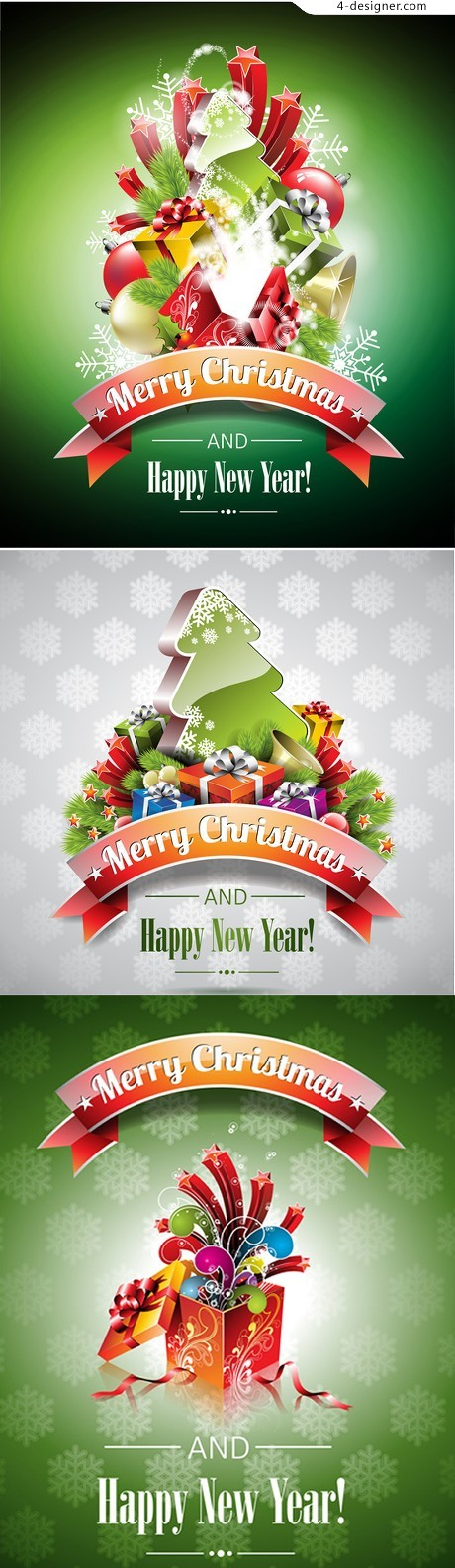 Christmas poster template vector material