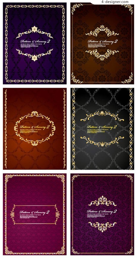 Classical decorative background pattern vector material