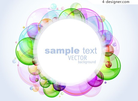 Colorful bubbles floating background