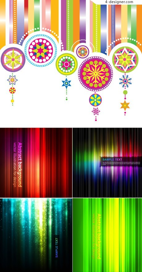 Colorful fantasy background vector material