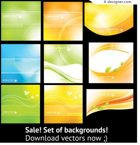 Colorful flow background vector material