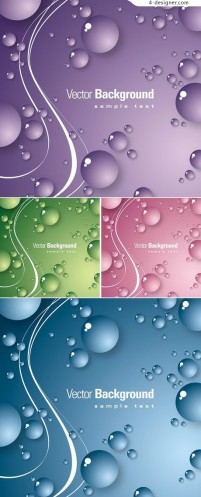 Crystal drops decorative background texture vector material