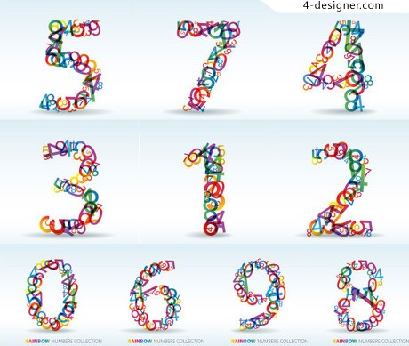 Digital vector material digits