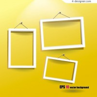 Fashion photo frame vector material