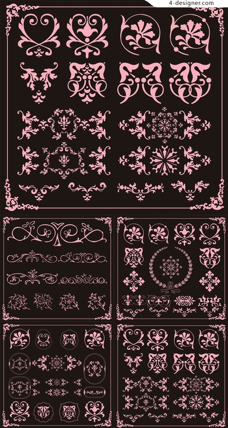 Featured classical decorative pattern vector material