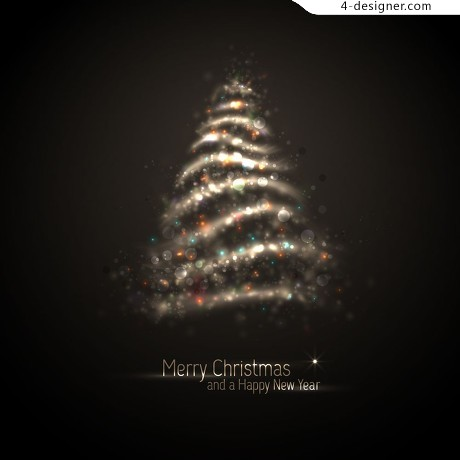 Halo exquisite Christmas tree vector material