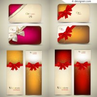 Holiday card template vector material