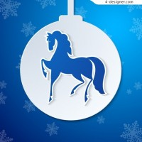 Horse lob Christmas background vector material