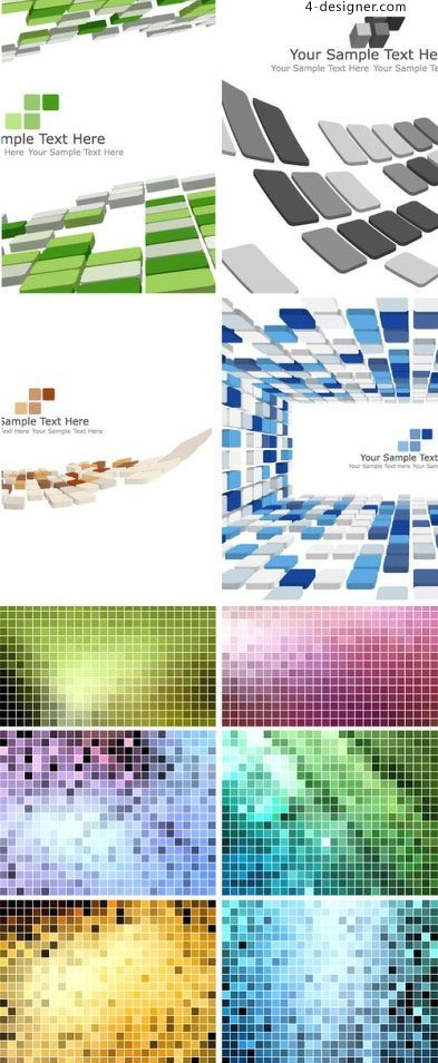 Lattice space and mosaic background vector material