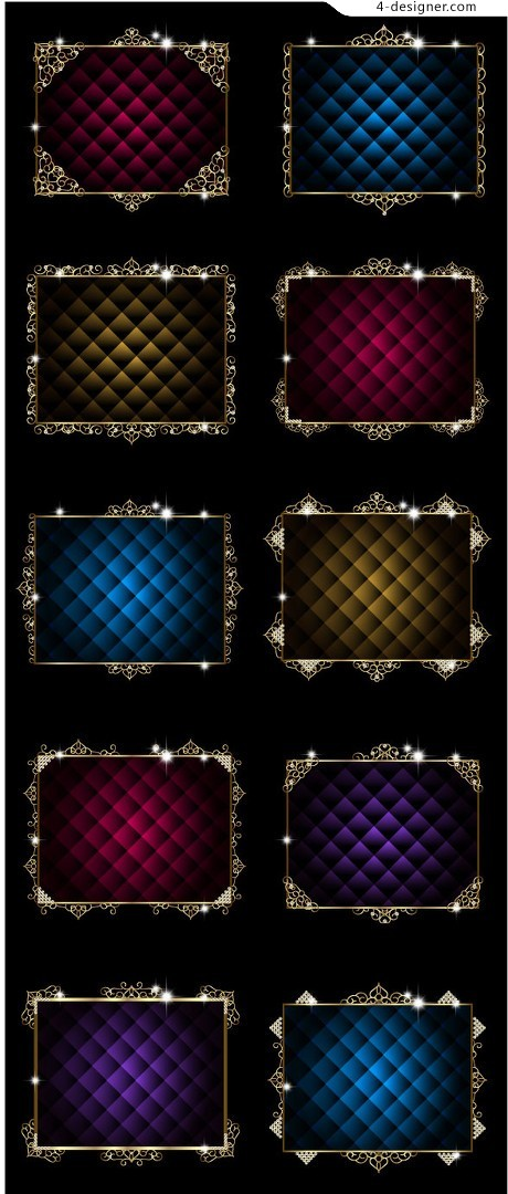 Refined and elegant European style border vector material