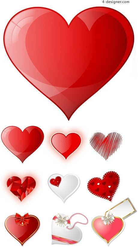 Romantic Red vector material