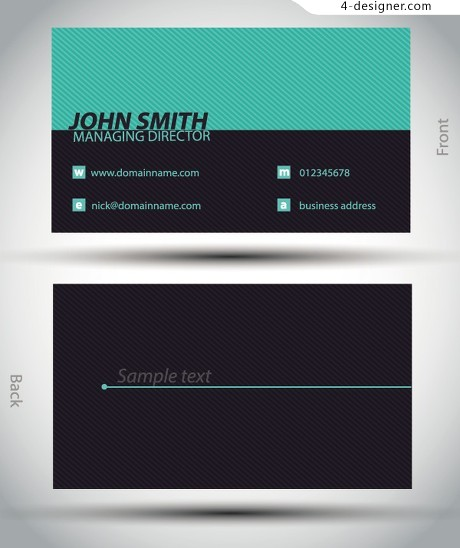 Simple atmospheric cards vector material