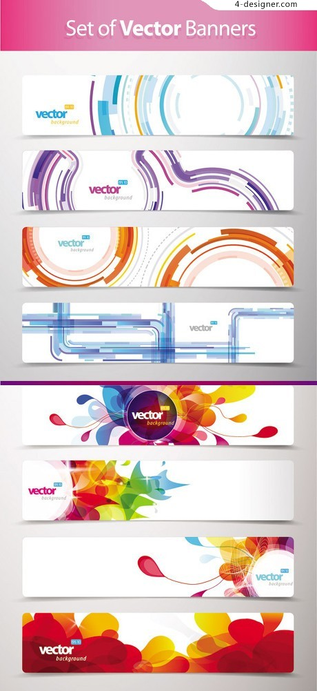 Trend pattern banner vector material