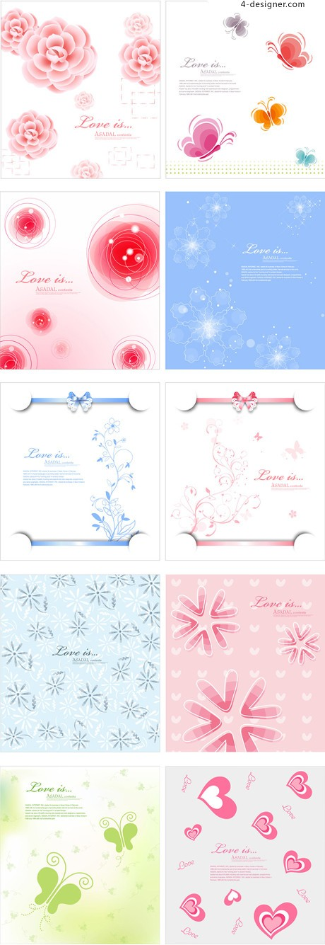 Vector fantasy background material